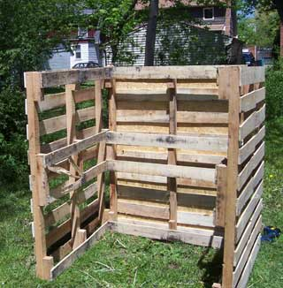 How to build a $15 shipping pallet compost bin - This Garden Is ...