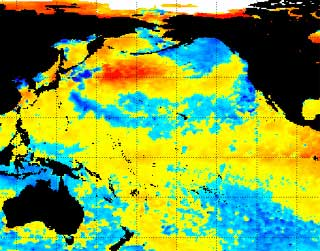 NOAA satellite image of El Nino
