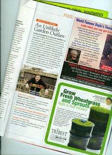 Hanna in Organic Gardening Magazine